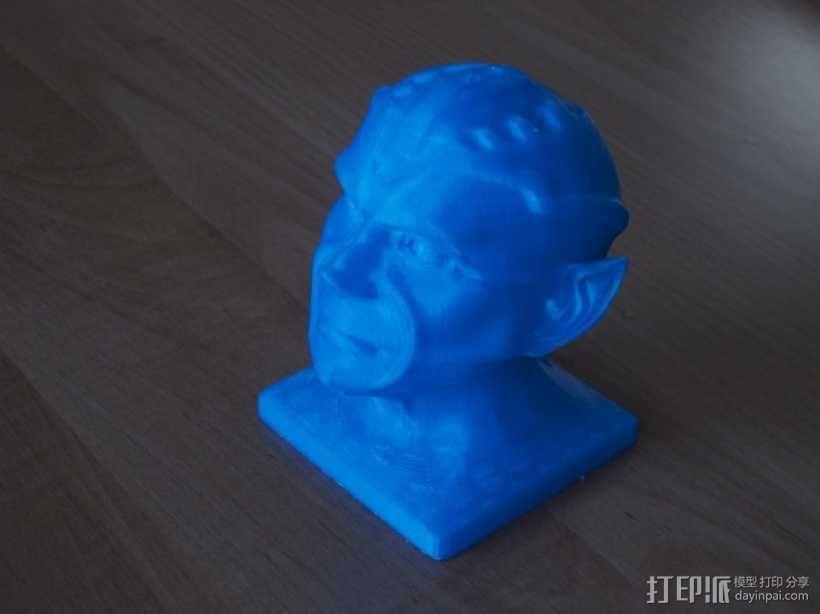 《星际迷航》外星人头像 3D模型  图1