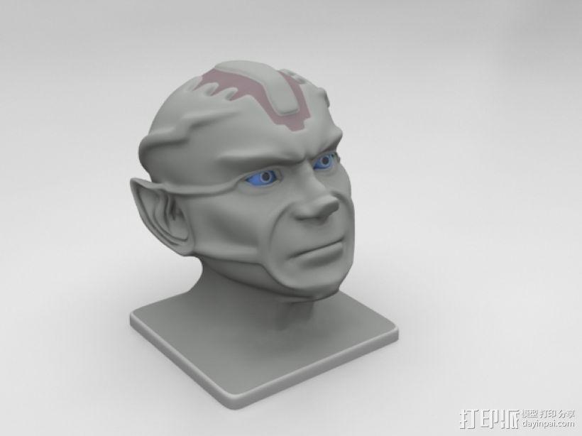 《星际迷航》外星人头像 3D模型  图2