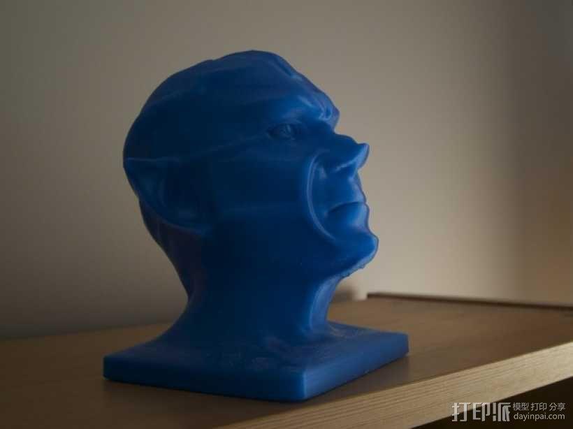 《星际迷航》外星人头像 3D模型  图4