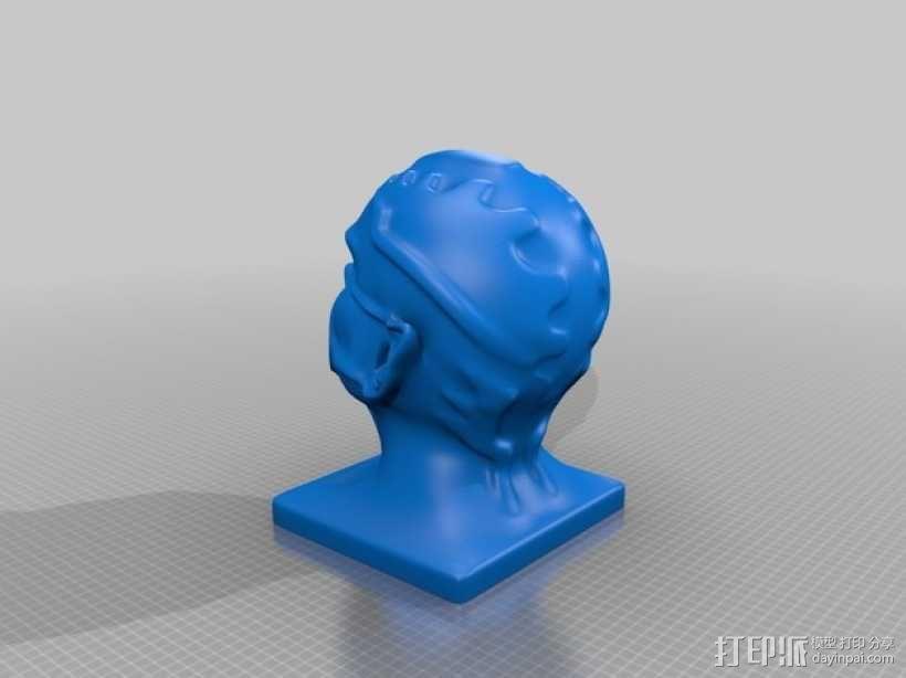 《星际迷航》外星人头像 3D模型  图5