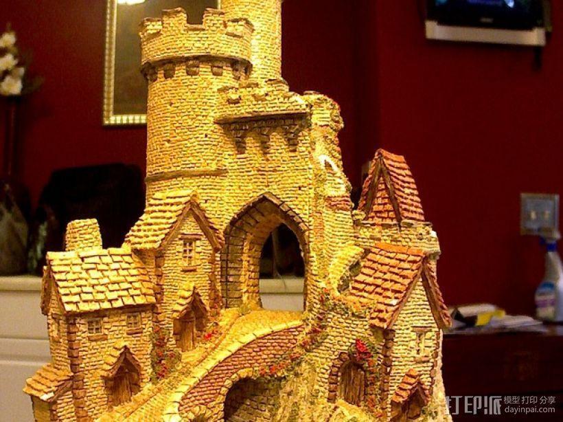 冬季城堡  3D模型  图1