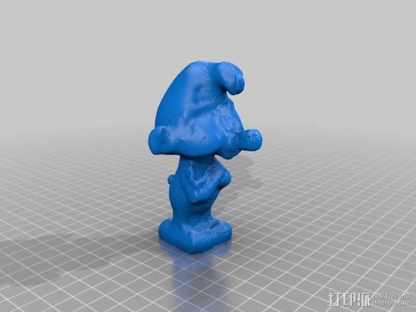 蓝精灵 3D模型  图1