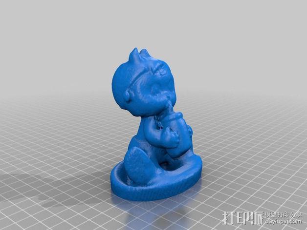 喝水的女婴 3D模型  图2
