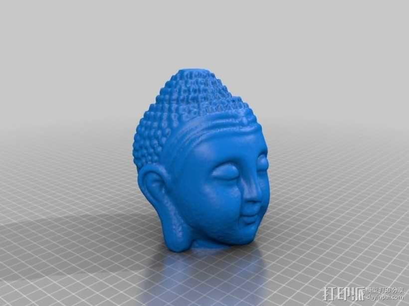佛陀头像 3D模型  图1