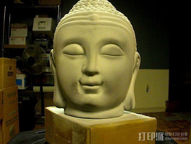 佛陀头像 3D模型  图2