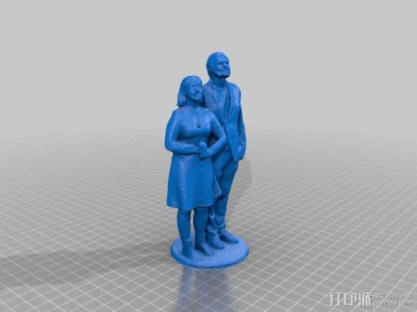 结婚蛋糕上层的装饰品 3D模型  图1