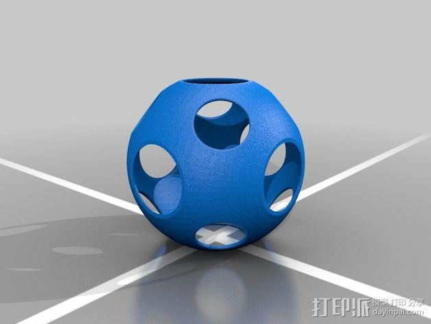 同心球 3D模型  图2