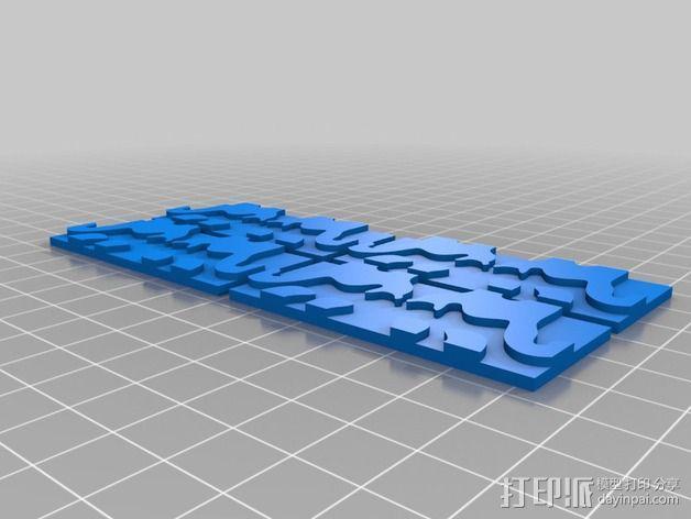 小猫 拼贴 3D模型  图2