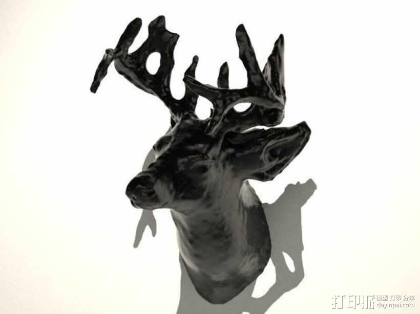 鹿头 装饰品 3D模型  图1