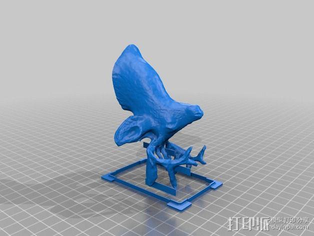 鹿头 装饰品 3D模型  图4