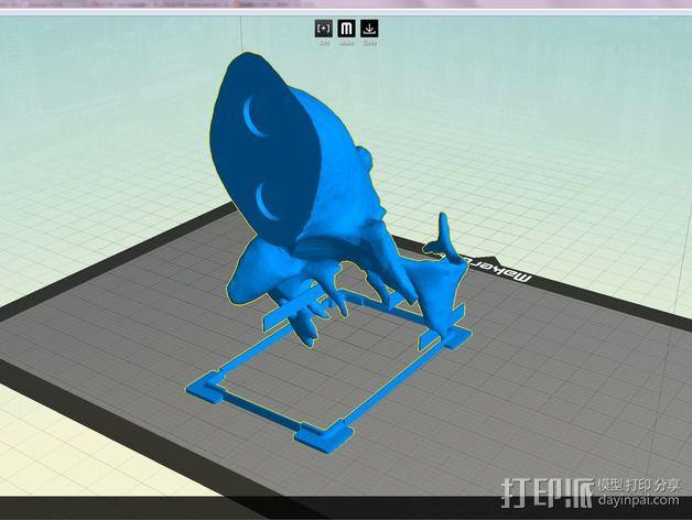 鹿头 装饰品 3D模型  图5