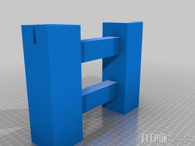 游戏《我的世界》栅栏 3D模型  图2