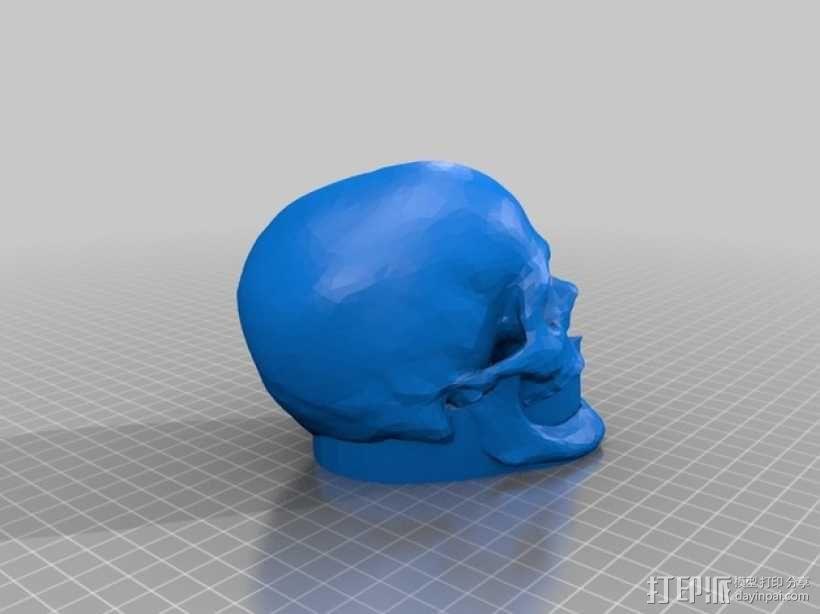 骷髅头 钥匙扣 3D模型  图3