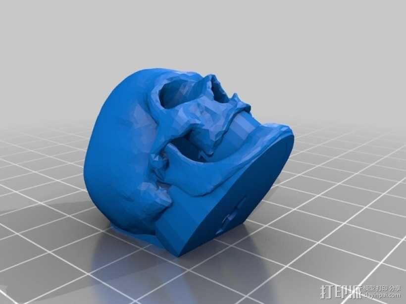 骷髅头 钥匙扣 3D模型  图2