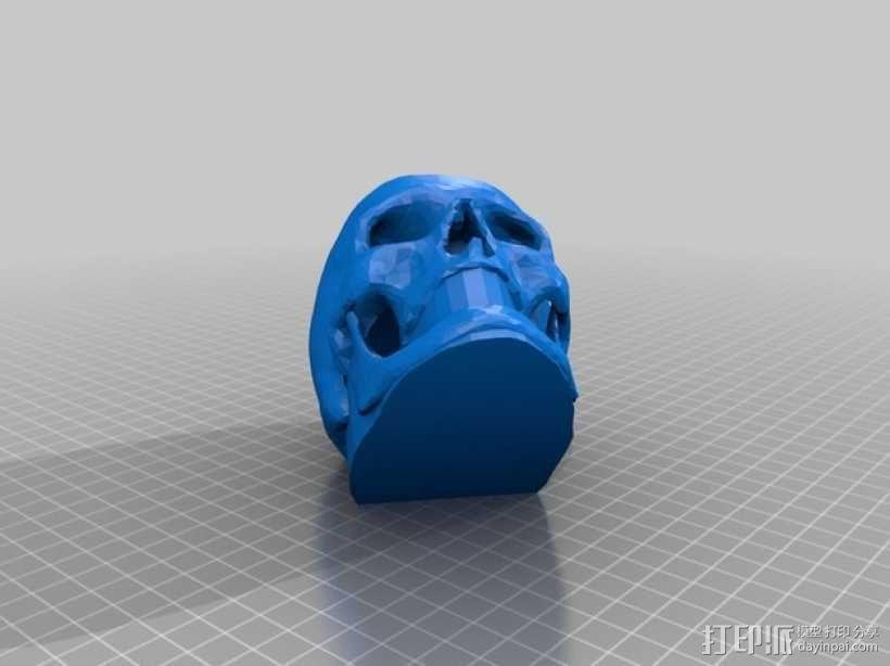 骷髅头 钥匙扣 3D模型  图4