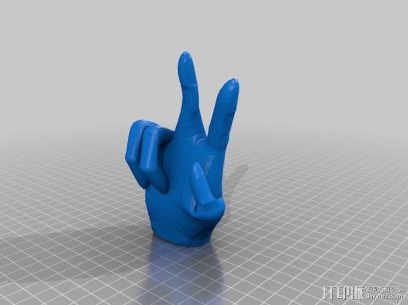 V字形手势 3D模型  图1