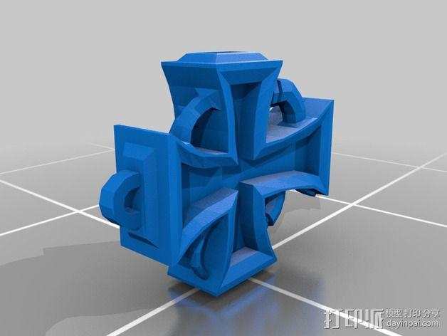 朋克风 十字架吊坠 3D模型  图3
