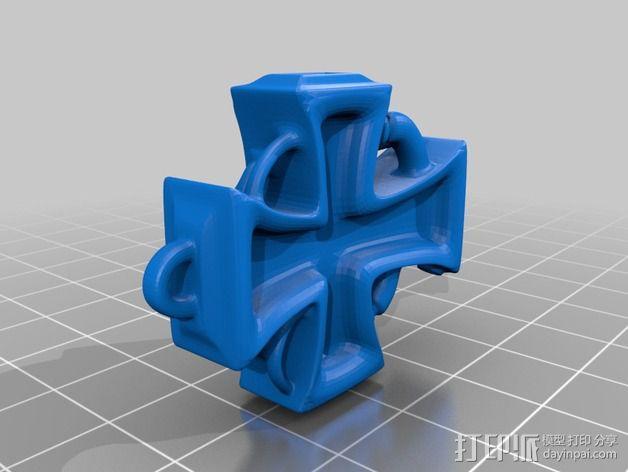 朋克风 十字架吊坠 3D模型  图2