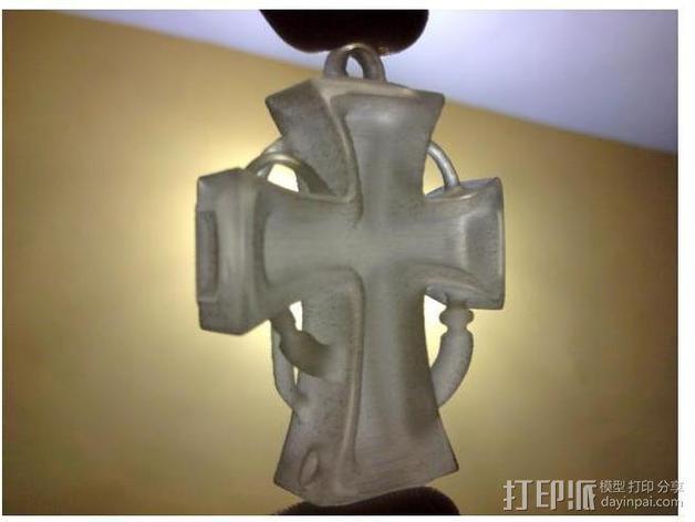 朋克风 十字架吊坠 3D模型  图8