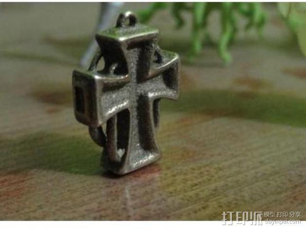 朋克风 十字架吊坠 3D模型  图7