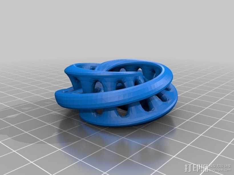 联锁莫斯比环 3D模型  图4
