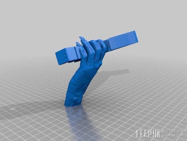 金属乐队 Metallica 标志 3D模型  图4