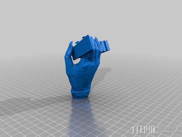 金属乐队 Metallica 标志 3D模型  图3