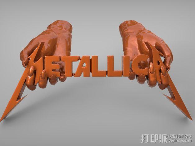 金属乐队 Metallica 标志 3D模型  图5