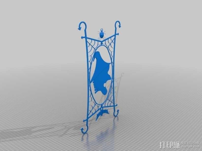 窗户上的女巫 装饰品 3D模型  图1