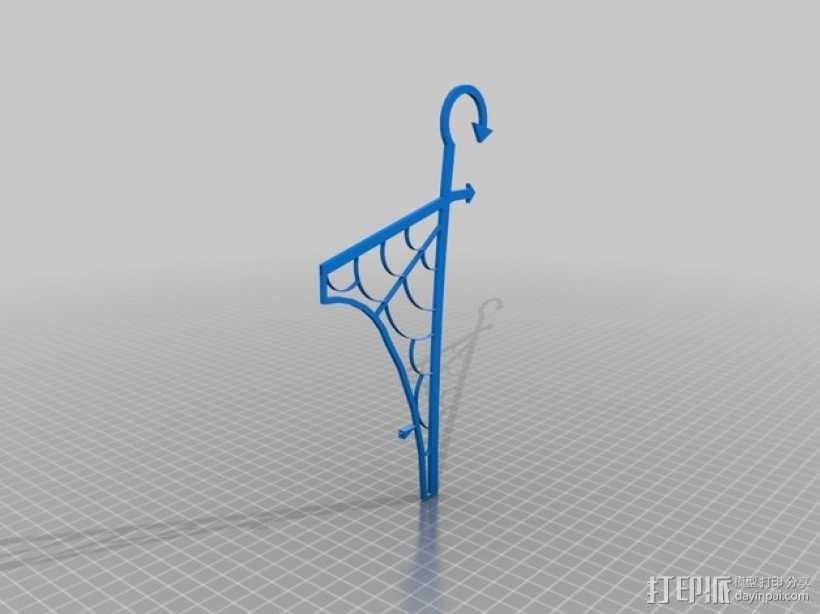 窗户上的女巫 装饰品 3D模型  图3