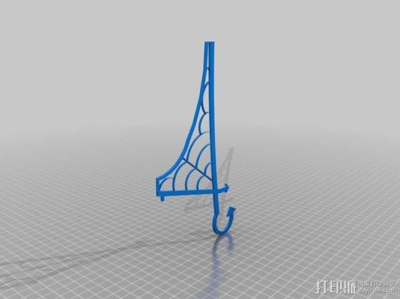 窗户上的女巫 装饰品 3D模型  图6