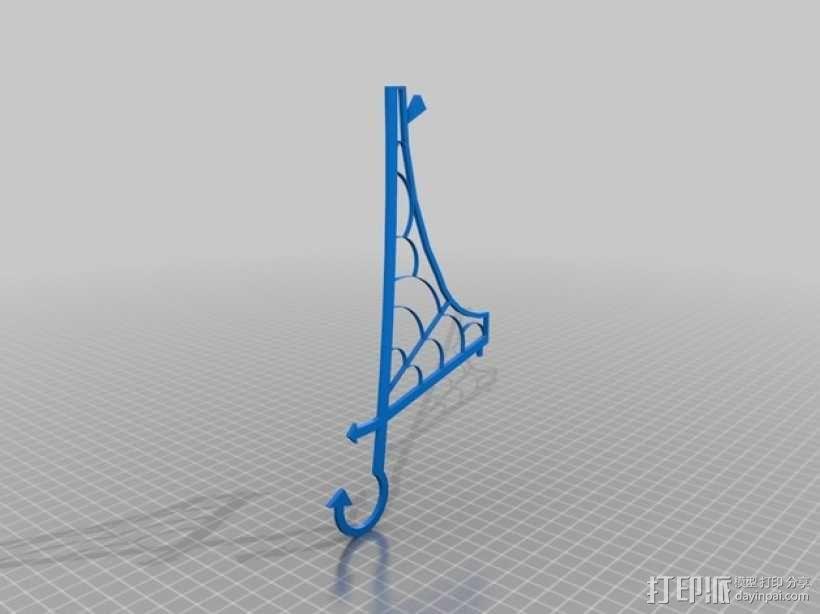 窗户上的女巫 装饰品 3D模型  图7