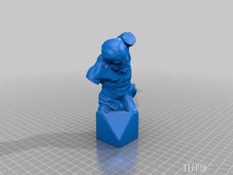 躯干 青铜雕塑 3D模型  图2