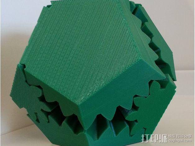 十二面体 齿轮 3D模型  图1