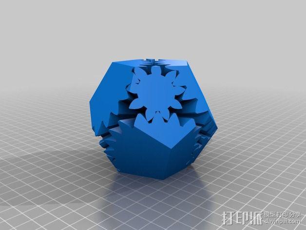 十二面体 齿轮 3D模型  图12