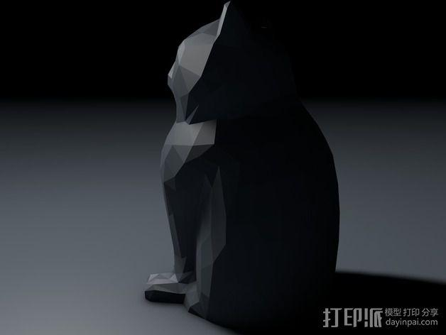 低聚镭射猫 3D模型  图2