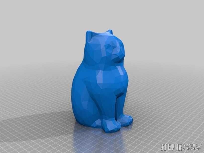 低聚镭射猫 3D模型  图3