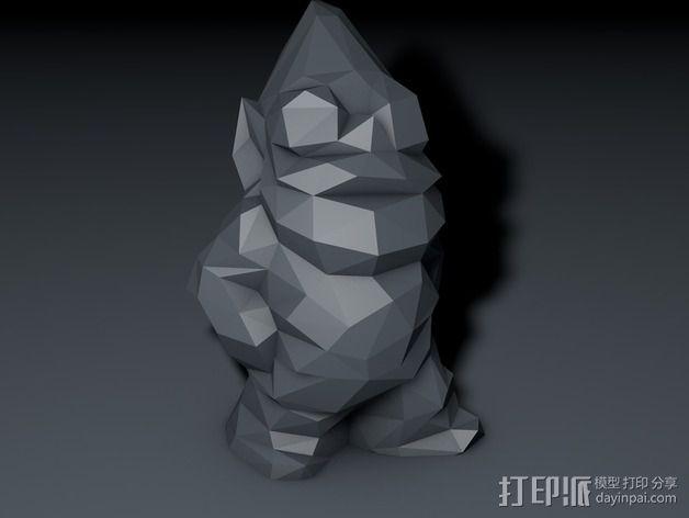 低聚侏儒 3D模型  图3