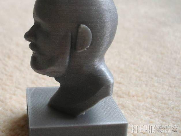 胡须男 头像 3D模型  图1