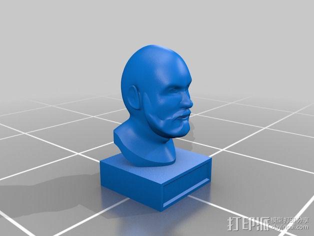 胡须男 头像 3D模型  图2