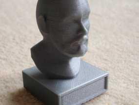 胡须男 头像 3D模型