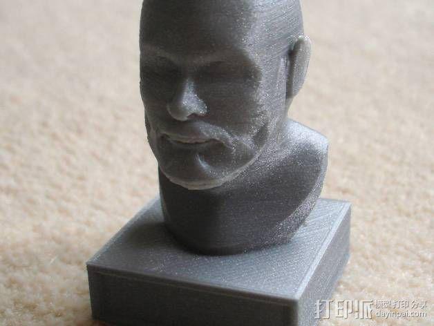 胡须男 头像 3D模型  图5