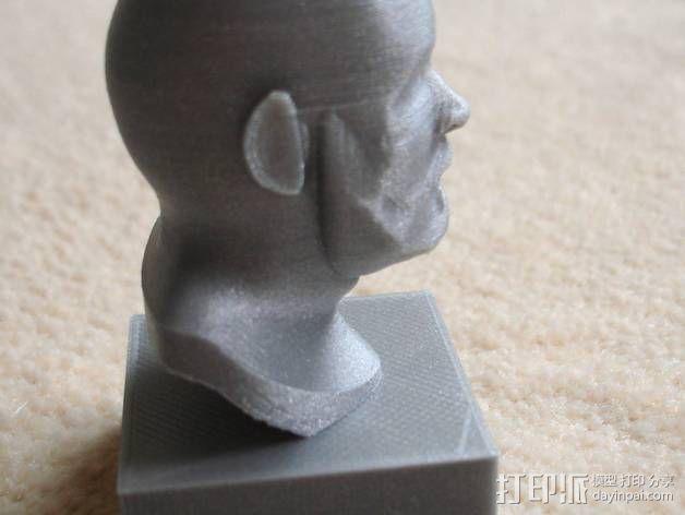 胡须男 头像 3D模型  图6