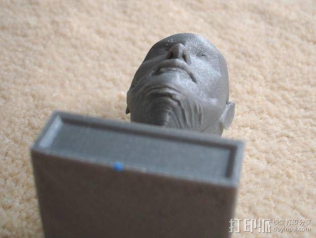 胡须男 头像 3D模型  图7
