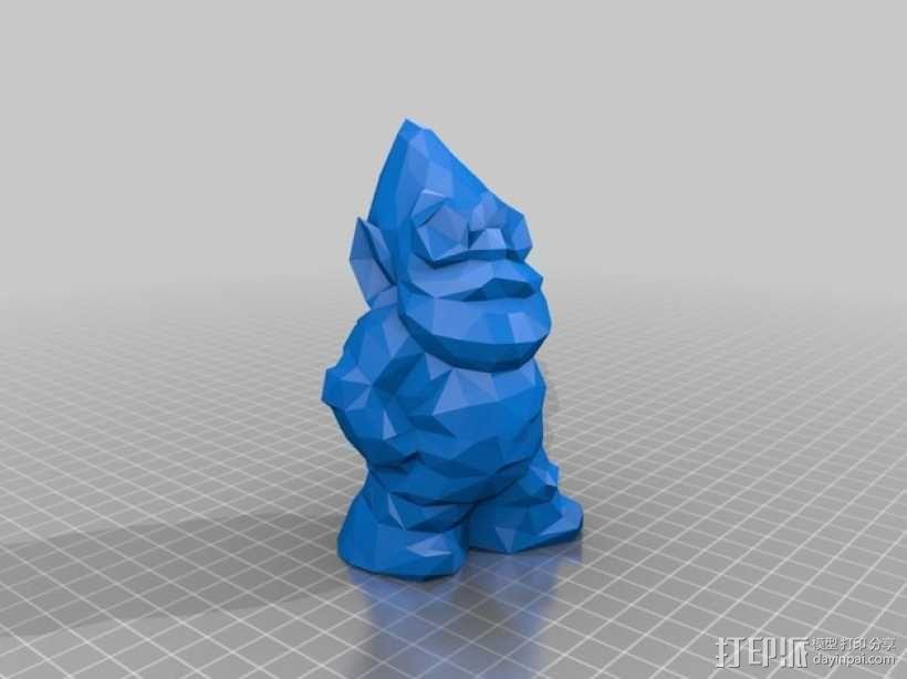低面数 小矮人 3D模型  图1