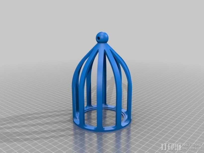 关在笼子里的小矮人 3D模型  图3
