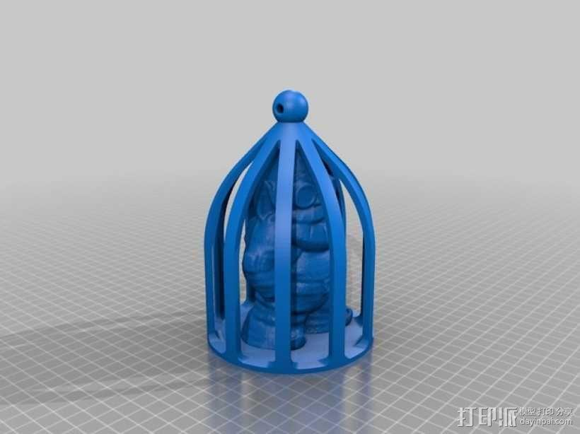 关在笼子里的小矮人 3D模型  图6