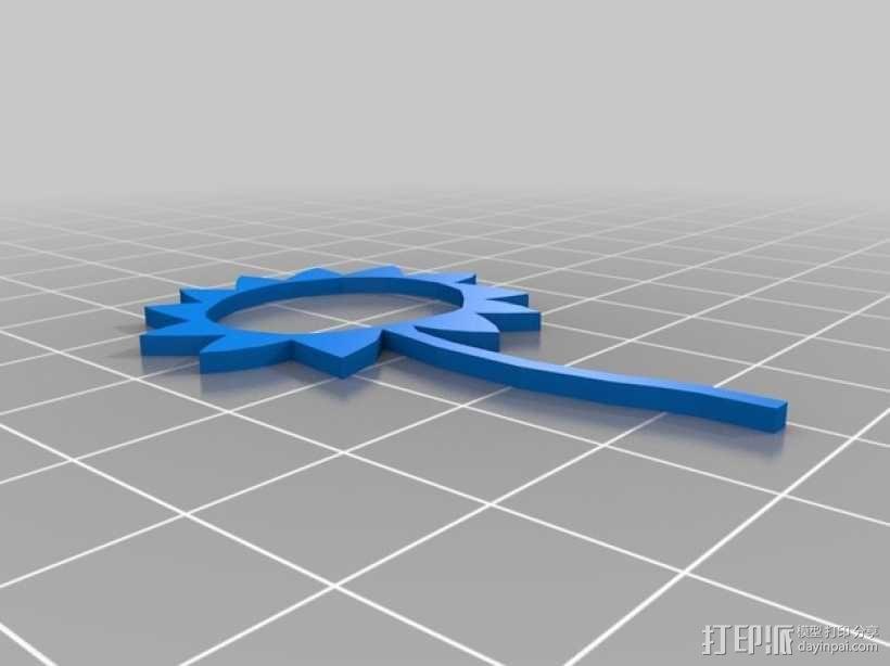 小花  3D模型  图4