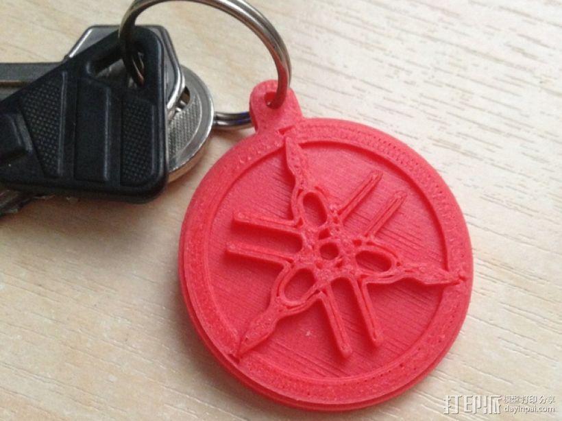 雅马哈标志 钥匙扣 3D模型  图1
