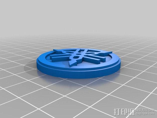 雅马哈标志 钥匙扣 3D模型  图4